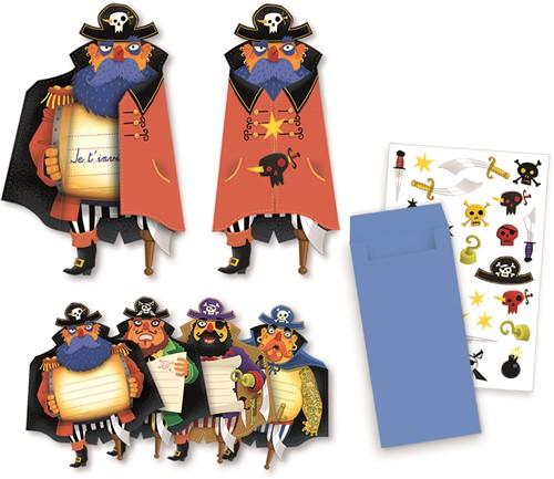 Djeco Pirates invitation cards - FSC MIX
