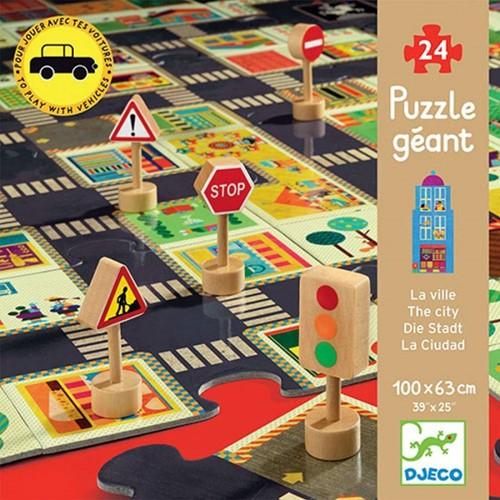 DJECO DJ07161 - Puzzle strade - La Città
