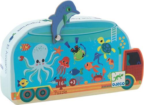 Djeco Puzzles silhouettes L'aquarium - 16 pcs