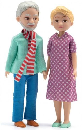 Djeco poppenhuispoppen Opa en Oma
