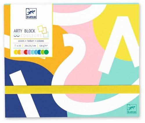 Djeco Les couleurs des grands Arty block - Papier coloré