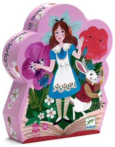 Djeco Puzzles silhouettes Alice aux pays des merveilles - 50 pcs