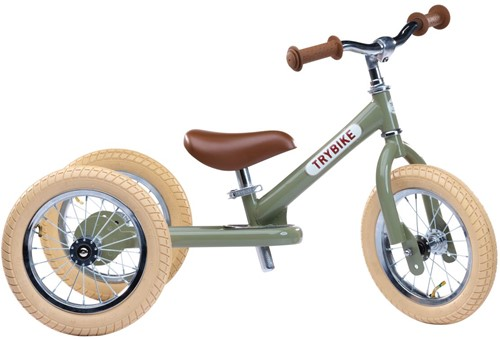 Trybike Laufrad 2-in-1 Steel - Vintage Grün