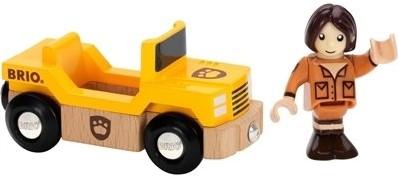 Brio Holz Eisenbahnwaggon Giraffenwagen 33724-2