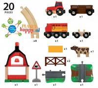 Brio Holz Eisenbahn Set Bauernhof Set 33719-2