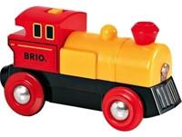 Brio Holz Eisenbahn Batterielok Gelb 33594