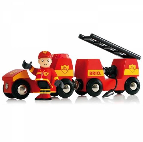 Brio Holz Eisenbahn Zubehör Autotransporter mit Rampe 33577-2