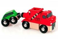 Brio Holz Eisenbahn Zubehör Abschleppwagen mit Auto 33528