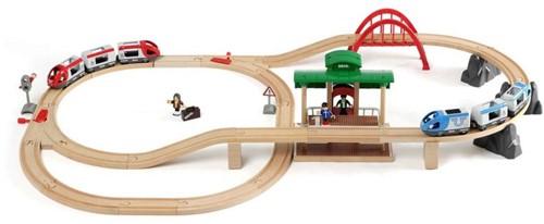 Brio Holz Eisenbahn Set Großes Bahn Reisezug Set 33512