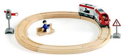 Brio Holz Eisenbahn Set Großes Bahn Reisezug Set 33512-2
