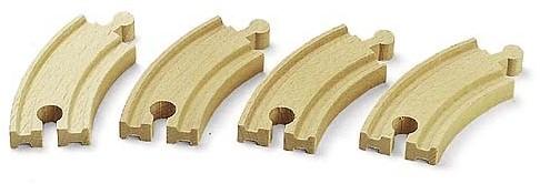 Brio Holz Eisenbahn Schienen Kurze gebogene Gleise 33337