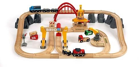 Brio Holz Eisenbahn Set Frachten Set Deluxe 33097