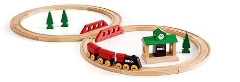 Brio Holz Eisenbahn Set Bahn Acht Set - Classic Line 33028