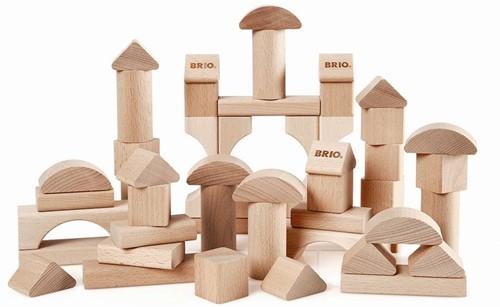 Brio 50 Natur-Holzbausteine 30113