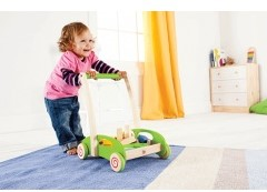 Hape houten loopwagen Block and Roll-3