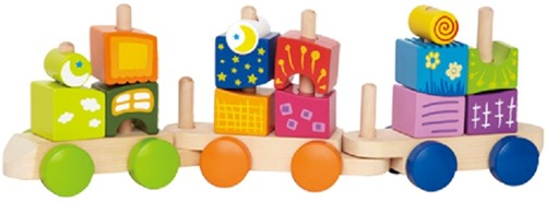 Hape Holz Stapelfigur Fantasiebausteine Eisenbahn