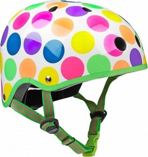 Micro  Laufrad Zubehör Helm Neon Gepunktet - Größe M