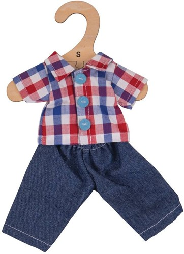 Bigjigs Checked Shirt and Jeans - Small