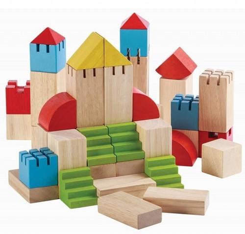 Plan Toys 46 Holzbausteine Kreativ