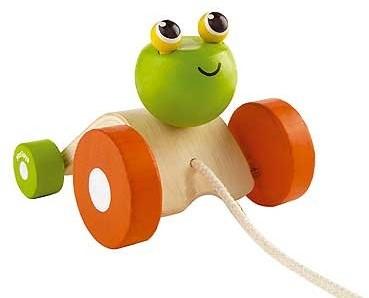 Plan Toys  Holz Ziehfigur Hüpfender Frosch
