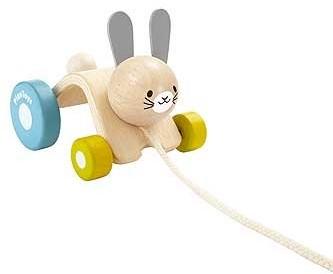 Plan Toys  Holz Ziehfigur Hoppelnder Hase
