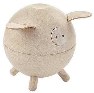 Plan Toys  Kindermöbel Spardose Sparschwein - Weiß