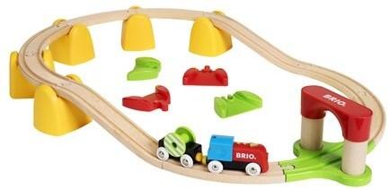 Brio Holz Eisenbahn Set Mein erstes BRIO Bahn Set mit Batterielok 33710