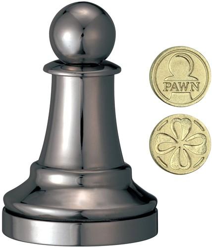 Cast Chess Puzzle - Pawn - black color