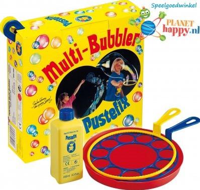 Pustefix  Spielzeug für Draußen Seifenblasen Multi-Bubbler super Blasen-Set