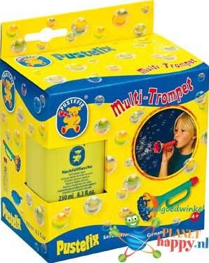 Pustefix Spielzeug für Draußen Seifenblasen Multi-Bubble-Trompete