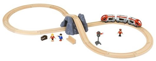 Brio Holz Eisenbahn Set BRIO Eisenbahn Starter Set A 33773