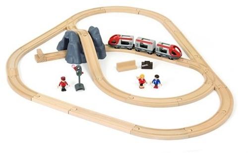 Brio Holz Eisenbahn Set BRIO Eisenbahn Starter Set A 33773-2