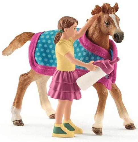 Schleich Paarden - Veulen Met Deken 42361