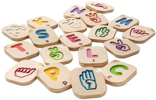 Plan Toys Holz Alphabet Gebärdensprache 5672
