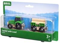 Brio Holz Eisenbahn Zubehör Traktor mit Holzanhänger 33799-3