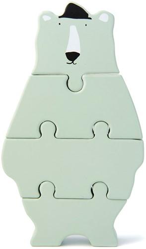 Trixie Wooden body puzzle - Mr. Polar Bear