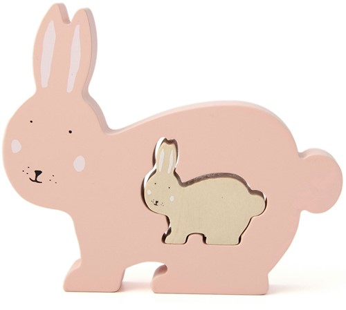 Trixie Wooden baby puzzle - Mrs. Rabbit