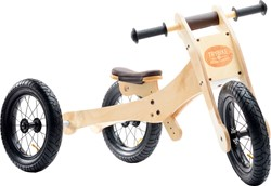 Trybike  Holz Laufrad 4-in-1 Braun