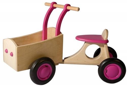 Van Dijk Toys Holz Lieferrad Rosa