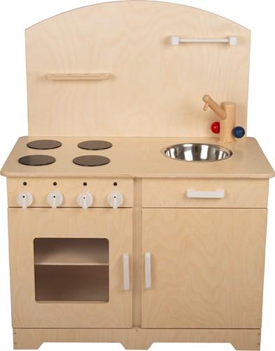 Van Dijk Toys Houten Keukenblok Peuters Wit