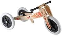 Wishbonebike  Holz Laufrad 3-in-1 Flammen