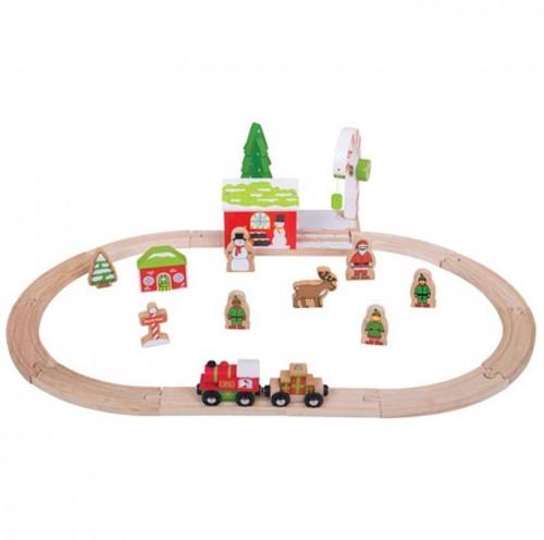 BigJigs Winterwunderland  Eisenbahn Set