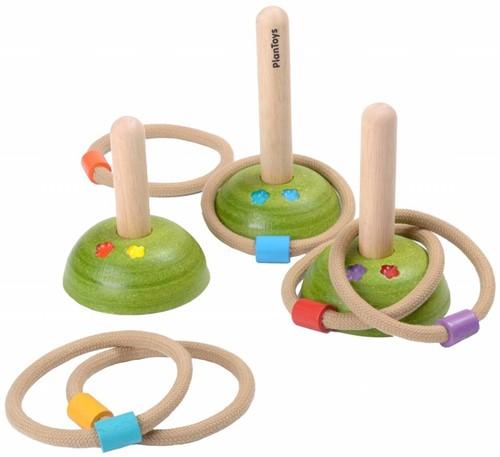 Plan Toys  Holzspiel für Draußen Wurfspiel Ringe 5652